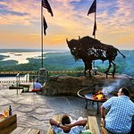 Buffalo Bar patio at Top of the Rock.