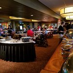Part of the brunch buffet area