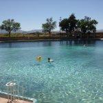Pool at Balmorhea Springs. Deep, cold and so refreshing. .