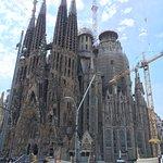 Sagrada Familia stop during the tour
