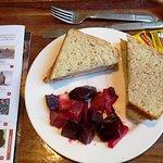 Turkey Sandwich with Beet Salad