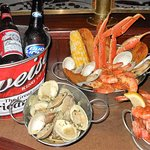 Friday night Bucket Nights! Buckets of EVERYTHING...shrimp, clams, ribs and seafood!