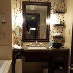Neat bathroom.