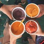 Four yummy smoothies.