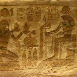 In tomb at Abu Simbel