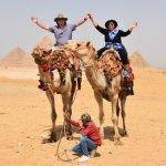 At Gize Pyramids