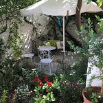 little secluded garden outside of the Cellar room