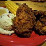 Fried chicken. Tender, juicy, nice crunchy crust!