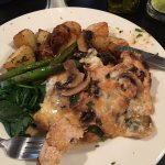 Chicken with Mushrooms and fontina cheese - AWESOME!