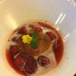 Tres bon dessert de fraises chaudes :-)
