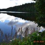 озеро, в которое смотрится небо