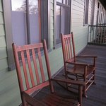 Rocking chairs on our private patio