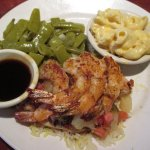 Key West Chicken and Shrimp, comes with two sides