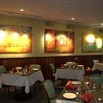 the art in Casanova's dining room.