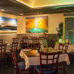 The artsy intyerior: The Alelele room is a favorite for private events.