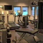 Small but well equiped fitness room