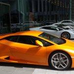 Very upmarket cars displayed