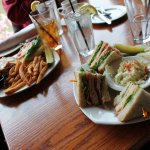 Club Sandwich and Burger