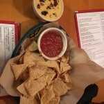 Chips, Salsa & Sausage Queso