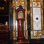 Antique clock in lobby