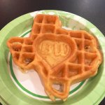 Texas-shaped waffles for breakfast are awesome