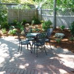 Patio seating at Bluefish Bed & Breakfast