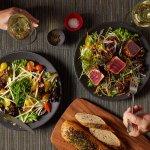 Mauka Harvest and Seared Ahi Salads