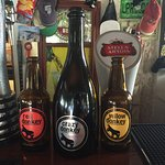 Draught beer from UK, Ireland and orther countries- and off course local Santorini bottle beerbe