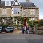 Part of our family in front of the Marlborough House, our charming B&B in Bath, england