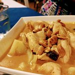 Massaman curry was sweet and creamy