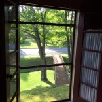 Cherry room morning view with the french doors open