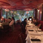 The upstairs dining room at Club A is beautiful!