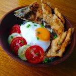Garlic Milkfish Breakfast Bowl