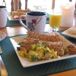 Breakfast crepes at Sunny Rock Bed and Breakfast in the #MyHaliburtonHighlands