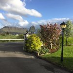 view from the driveway out to Benbulben