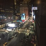 Night View up 7th Ave from room 910, which is double room with kitchenette.