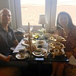 Afternoon high tea at Sea Longe with view of gateway of India