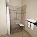 HANDICAP ACCESSIBLE ROOM ROLL IN SHOWER