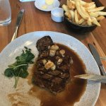 300g of delicious porterhouse with the bouledoir sauce. Mouth watering perfection!