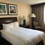 we booked a queen room, but this was the tiniest queen bed we've ever seen