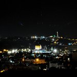View over Jerusalem at night from Tower of David Museum