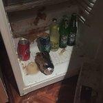 Frozen Minibar Coke exploded