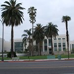 Otherside of the road is Pasadena City College.