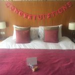 Anniversary surprise arranged by hotel staff