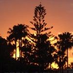 das Resort bei Sonnenuntergang