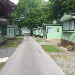 Overview of the park. Some photos of outside our Sedgewick caravan & the construction fence righ