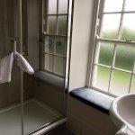 Nice big window in the bathroom.