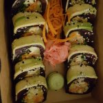 Rice-free sashimi rolls - delicious!