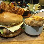 CGH Big Burger (Php575 only) with 230 grams of pure beef patty
