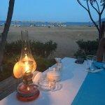 Abend Aussicht vom Restaurant